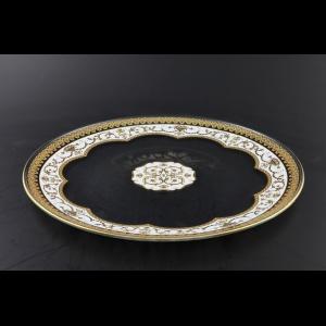 Full Moon CP FELW Cake Plate d28cm 1pc in Flora´s Empire Golden White Light D. (21-736/L)
