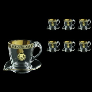 Mamanonmama CA MLGB Cappuccino 260ml 6pcs in Antique&Leo Golden Black Decor (42-333/6)