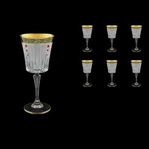 Timeless C2 TMGB SKLI Wine Glasses 298ml 6pcs in Lilit Golden Black+SKLI (31-130/bKLI)