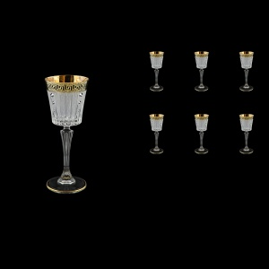 Timeless C5 TAGB SKCR Liqueur Glasses 110ml 6pcs Antique Golden Black+SKCR (57-112/bKCR)