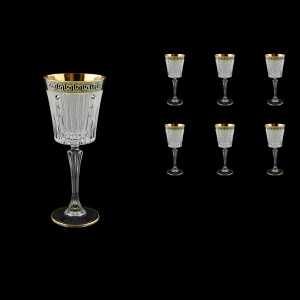 Timeless C3 TAGB SKCR Wine Glasses 227ml 6pcs Antique  Golden Black+SKCR (57-129/bKCR)