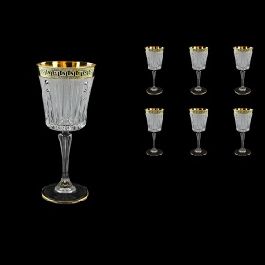Timeless C2 TAGB SKCR Wine Glasses 298ml 6pcs Antique  Golden Black+SKCR (57-130/bKCR)