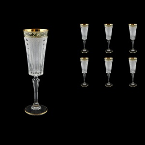 Timeless CFL TAGB SKCR Champagne Fluetes 210ml 6pcs Antique Golden+SKCR (57-131/bKCR)