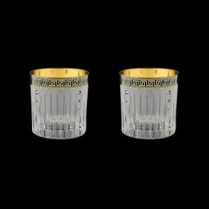 Timeless B2 TAGB SKCR Whisky Glasses 360ml 2pcs in Ant.Gold.Black +SKCR (57-132/2/bKCR)