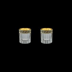 Timeless B5 TAGB SKTO Liqueur Tumblers 78ml 2pcs Ant. Golden Black+SKTO (57-111/2/bKTO)
