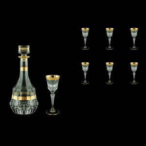 Adagio Set RD+C5 AAGC b 1x1000ml + 6x80ml 1+6pcs in Ant. Golden Classic Decor (489/480/b)