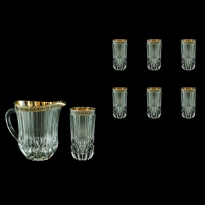 Adagio Set J+B0 AAGB b 1230ml+6x400ml 1+6pcs in Antique Golden Black Decor (57-488/484/b)