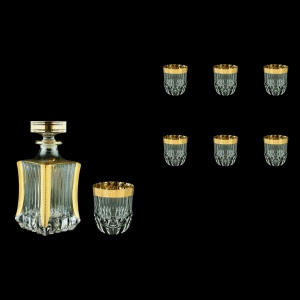 Adagio Set WD+B2 AAPC b 1x820ml+6x350ml 1+6pcs in Antique Golden Classic Decor (487/485/b)