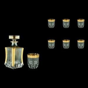 Adagio Set WD+B2 AAPC b 1x820ml+6x350ml 1+6pcs in Antique Golden Classic Decor (487/485/b)