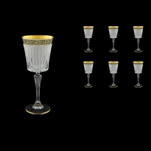 Timeless C3 TMGB S Wine Glasses 227ml 6pcs in Lilit Golden Black Decor+S (31-129)