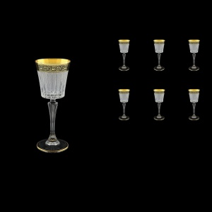 Timeless C5 TMGB S Liqueur Glasses 110ml 6pcs in Lilit Golden Black Decor+S (31-112)