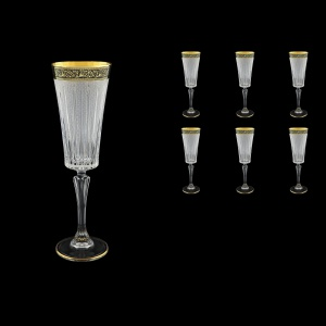 Timeless CFL TMGB S Champagne Fluetes 210ml 6pcs in Lilit Golden Black Decor+S (31-131)