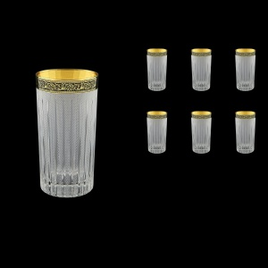 Timeless B0 TMGB S Water Glasses 440ml 6pcs in Lilit Golden Black Decor+S (31-133)