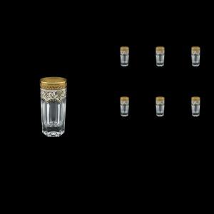 Provenza B5 PEGW Liqueur Tumblers 50ml 6pcs in Flora´s Empire Golden White Decor (21-520)