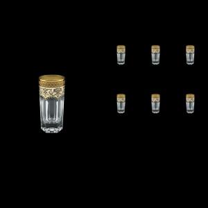 Provenza B5 PEGI Liqueur Tumblers 50ml 6pcs in Flora´s Empire Golden Ivory Decor (25-520)