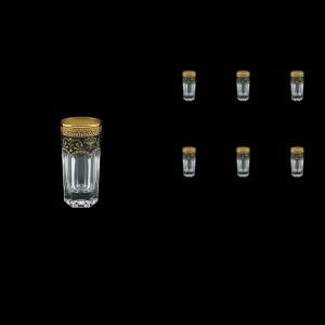 Provenza B5 PEGB Liqueur Tumblers 50ml 6pcs in Flora´s Empire Golden Black Decor (26-520)