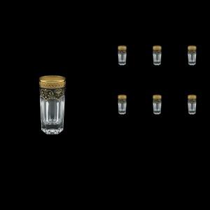 Provenza B5 PEGB Liqueur Tumblers 50ml 6pcs in Flora´s Empire Golden Black Decor (26-520)