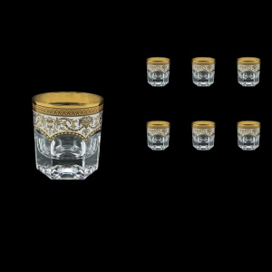 Provenza B2 PEGW Whisky Glasses 280ml 6pcs in Flora´s Empire Golden White Decor (21-527)
