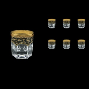 Provenza B2 PEGB Whisky Glasses 280ml 6pcs in Flora´s Empire Golden Black Decor (26-527)