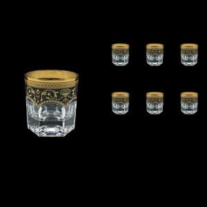 Provenza B2 PEGB Whisky Glasses 280ml 6pcs in Flora´s Empire Golden Black Decor (26-527)