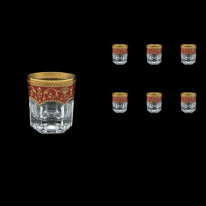 Provenza B3 PEGR Whisky Glasses 185ml 6pcs in Flora´s Empire Golden Red Decor (22-526)