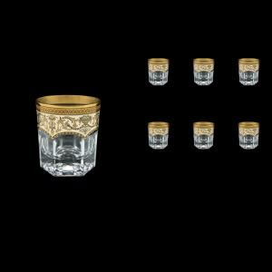 Provenza B3 PEGI Whisky Glasses 185ml 6pcs in Flora´s Empire Golden Ivory Decor (25-526)