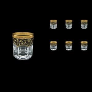 Provenza B3 PEGB Whisky Glasses 185ml 6pcs in Flora´s Empire Golden Black Decor (26-526)