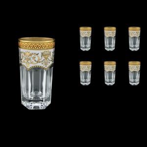 Provenza B0 PEGW Water Glasses 370ml 6pcs in Flora´s Empire Golden White Decor (21-525)
