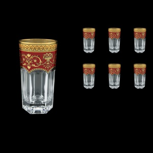 Provenza B0 PEGR Water Glasses 370ml 6pcs in Flora´s Empire Golden Red Decor (22-525)