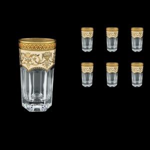 Provenza B0 PEGI Water Glasses 370ml 6pcs in Flora´s Empire Golden Ivory Decor (25-525)