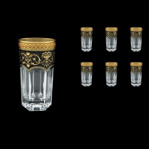 Provenza B0 PEGB Water Glasses 370ml 6pcs in Flora´s Empire Golden Black Decor (26-525)