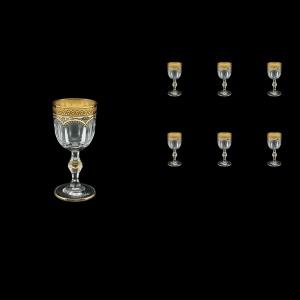 Provenza C5 PEGI Liqueur Glasses 50ml 6pcs in Flora´s Empire Golden Ivory Decor (25-521)