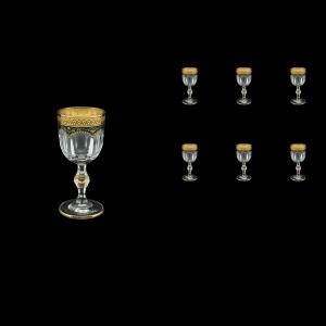 Provenza C5 PEGB Liqueur Glasses 50ml 6pcs in Flora´s Empire Golden Black Decor (26-521)
