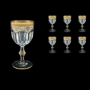 Provenza C2 PEGW  Wine Glasses 230ml 6pcs in Flora´s Empire Golden White Decor (21-523)
