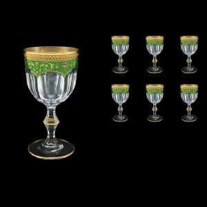 Provenza C2 PEGG  Wine Glasses 230ml 6pcs in Flora´s Empire Golden Green Decor (24-523)