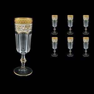 Provenza CFL PEGW Champagne Flutes 160ml 6pcs in Flora´s Empire Golden White D. (21-524)
