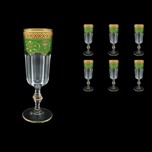 Provenza CFL PEGG Champagne Flutes 160ml 6pcs in Flora´s Empire Golden Green D (24-524)