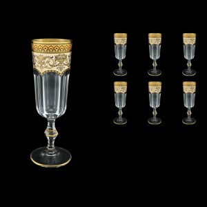 Provenza CFL PEGI Champagne Flutes 160ml 6pcs in Flora´s Empire Golden Ivory D. (25-524)