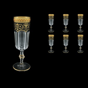 Provenza CFL PEGB Champagne Flutes 160ml 6pcs in Flora´s Empire Golden Black D (26-524)