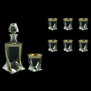 Bohemia Quadro Set WD+B2 QMGB 1+6 pcs, 850ml+6x340ml, in Lilit Golden Black Decor (31-470)