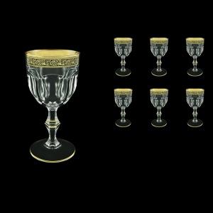 Provenza C2 PMGB  Wine Glasses 230ml 6pcs in Lilit Golden Black Decor (31-140)