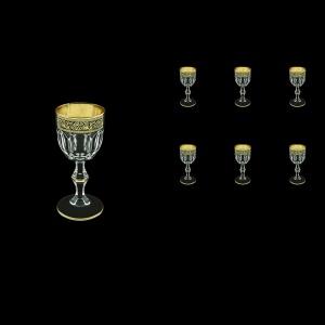 Provenza C5 PMGB Liqueur Glasses 50ml 6pcs in Lilit Golden Black Decor (31-143)
