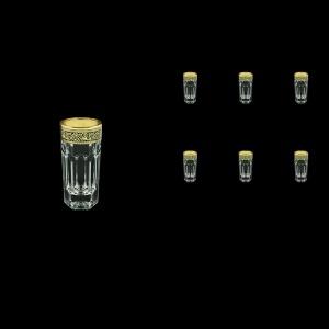 Provenza B5 PMGB Liqueur Tumblers 50ml 6pcs in Lilit Golden Black Decor (31-142)