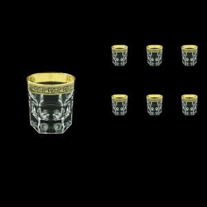 Provenza B3 PMGB Whisky Glasses 185ml 6pcs in Lilit Golden Black Decor (31-159)