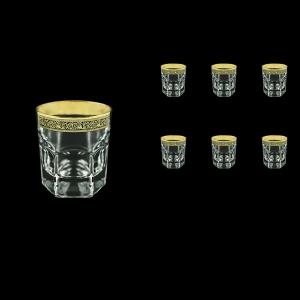 Provenza B2 PMGB Whisky Glasses 280ml 6pcs in Lilit Golden Black Decor (31-136)