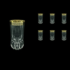 Adagio B0 AMGB Water Glasses 400ml 6pcs in Lilit Golden Black Decor (31-484)