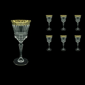 Adagio C2 AMGB Wine Glasses 280ml 6pcs in Lilit Golden Black Decor (31-483)
