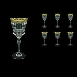 Adagio C2 AMGB Wine Glasses 280ml 6pcs in Lilit Golden Black Decor (31-483)