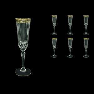 Adagio CFL AMGB Champagne Flutes 180ml 6pcs in Lilit Golden Black Decor (31-486)