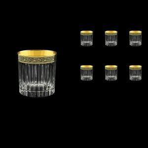 Timeless B2 TMGB Whisky Glasses 360ml 6pcs in Lilit Golden Black Decor (31-291)